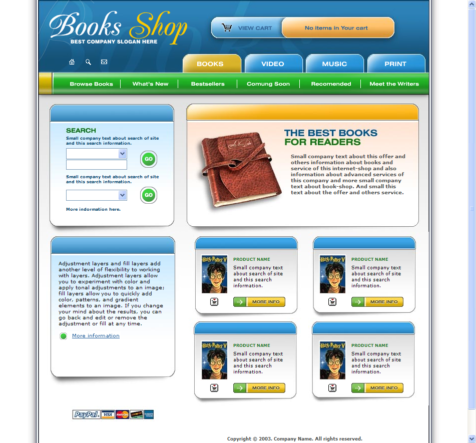 Book Store Web Template HTML Download