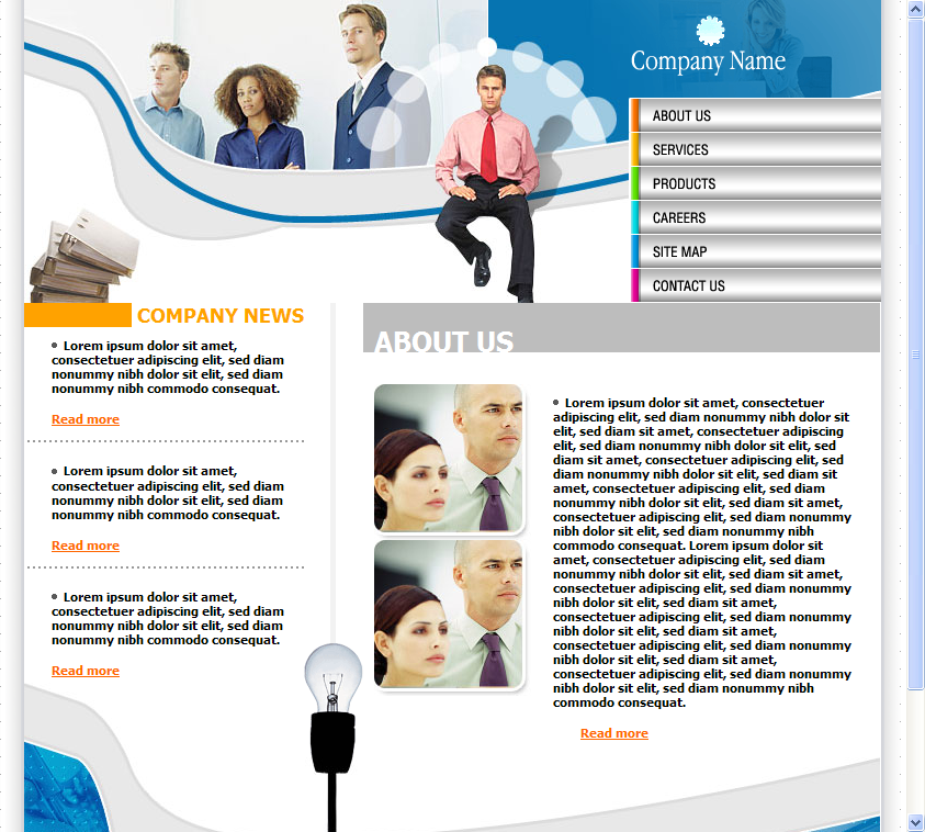 Company HTML Template Download