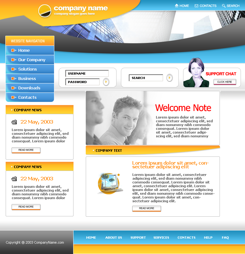 Company business html template download cheaphphosting Gallery