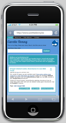 Mobile iPhone Theme Drupal Download