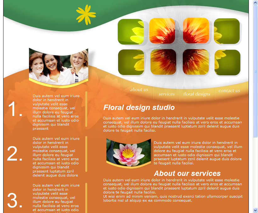 Floral Theme HTML Web Template Download