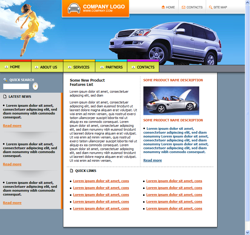 Car Automobile Themed HTML Template Download
