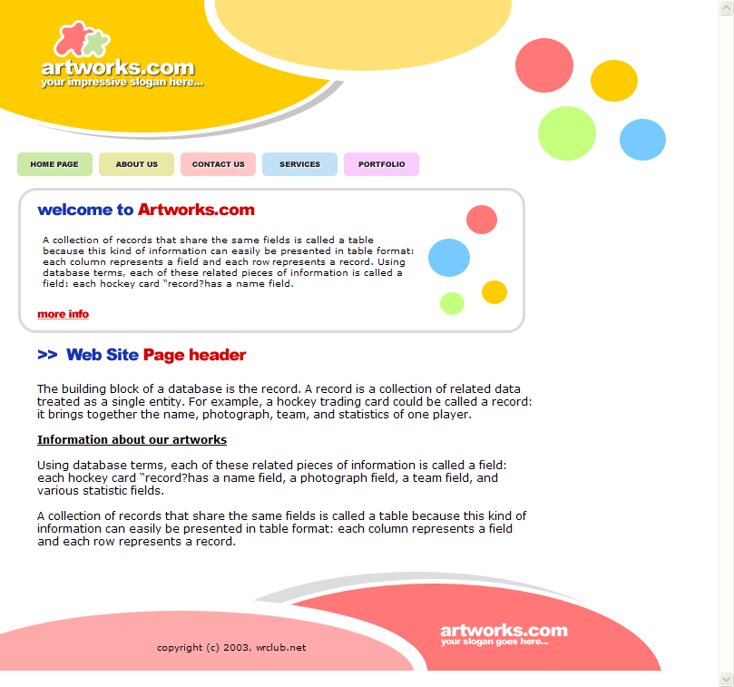 Colorful Web Template HTML Download