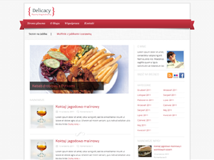 Web Template Restaurant Theme for WordPress Download