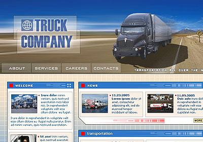 Trucking Company Web Theme WordPress Download