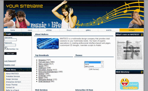 Music Theme XOOPS Download