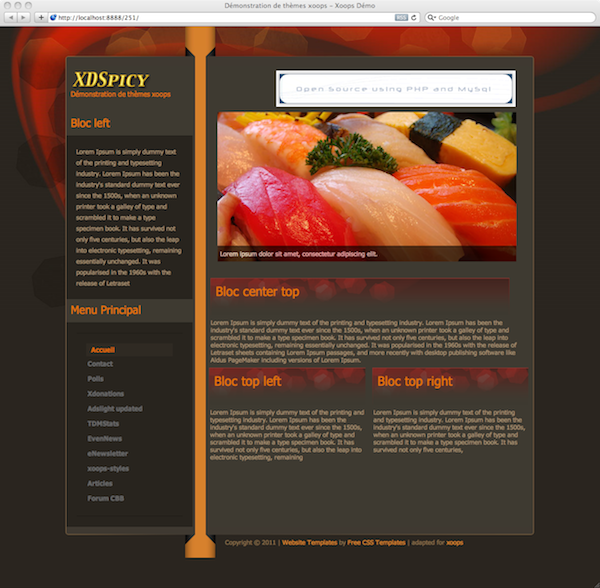Web Template for Japanese Sushi Restaurant Download