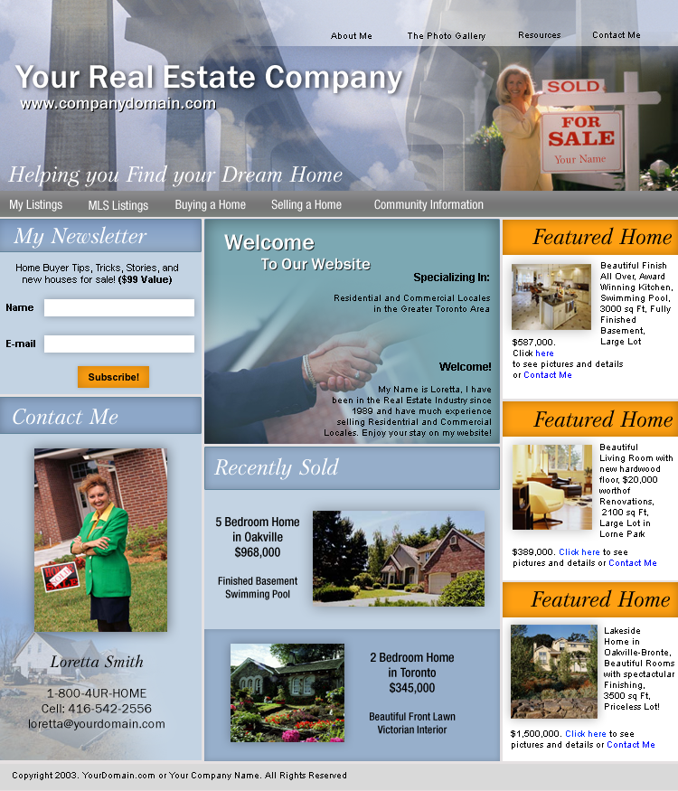Real Estate Realtor HTML Template Download