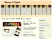 Piano Theme Web Template WordPress WordPress Format
