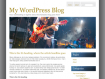 Musician Band Web Template WordPress WordPress Format